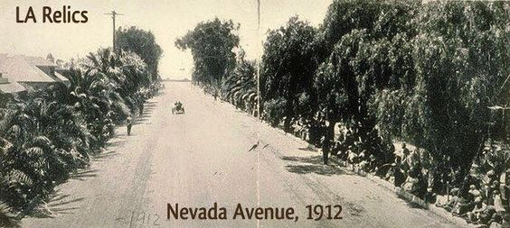 1912 view of Nevada Avenue (now Wilshire) in Santa Monica, Source: Santa Monica Public Library Image Archives.