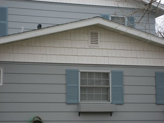 White Shake Style Siding On Gable Remodel Siding And