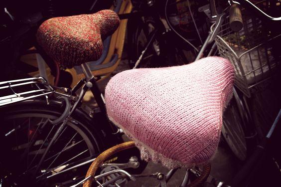 old-fashion style bike saddles.