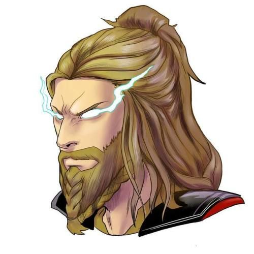 Braided Beard Thor Glen Canlas Thor Thor Drawing