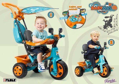 El Mejor Triciclo Evolutivo Para Bebes Feber Baby Plus Music