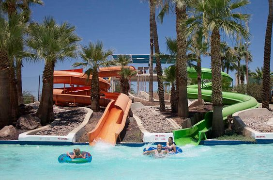 Tempe, AZ - Big Surf Waterpark covers almost 20 acres. It has plenty of water attractions such as pools, body slides, tube slides, speed slides and play area for kids. Other features include water basketball and volleyball.