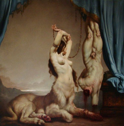 Tortured and pained nude women