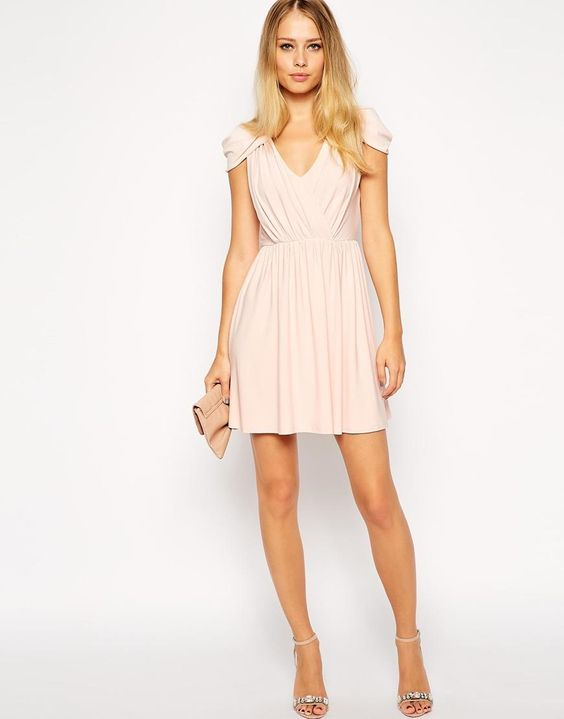 ASOS   ASOS Wrap Front Mini Dress at ASOS