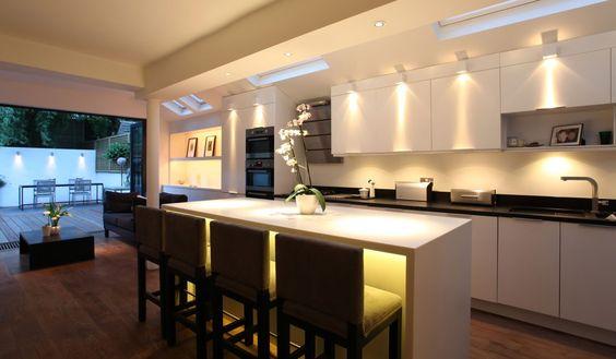 Iluminación moderna de cocinas: