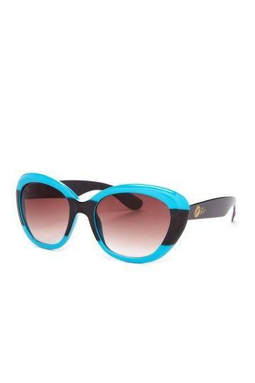 Women's Bold Stripe Cateye Sunglasses--Betsey Johnson