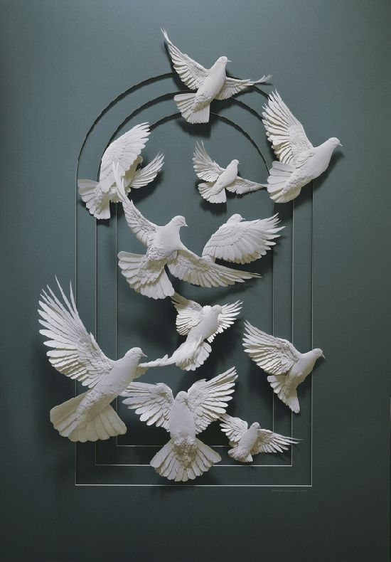 cut paper sculpture by Calvin Nicholls  #art #sculpture