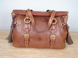 Dooney & Bourke Florentine Leather Tassel Satchel Chestnut 118 | eBay