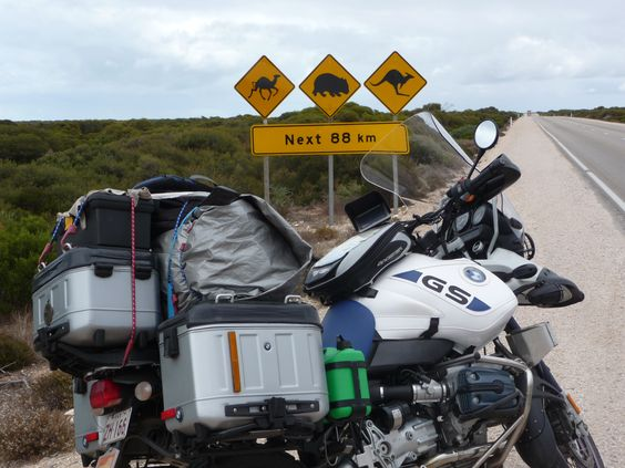 BMW R1150 GSA - Around Australia in 40 days. I must confess, nowhere did I see a kangaroo being chased by a wombat, chased by a camel, but I still rode carefully.