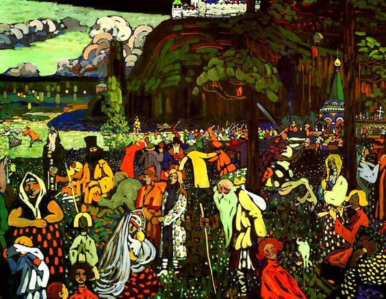 """La vie en couleur"" Kandinsky 1907"