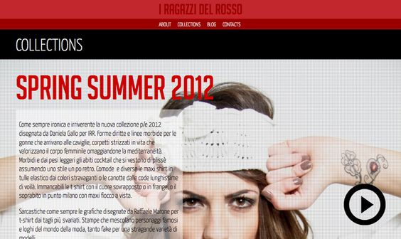 Website about I Ragazzi Del Rosso Collection, an Italian Brand Wear.