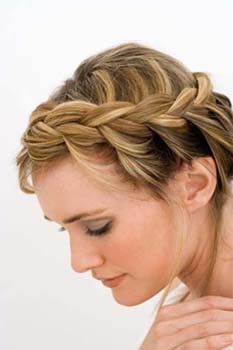French braid hairstyles for short hair.