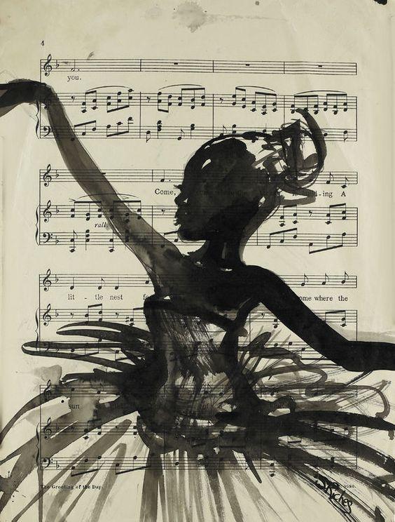 """Saatchi Art Artist: Sara Riches; Ink 2014 Painting """"Dance"""""""