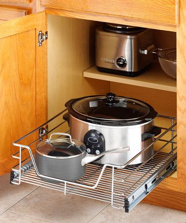 Take a look at this Chrome 17'' Sliding Cabinet Organizer by Whitmor on #zulily today!