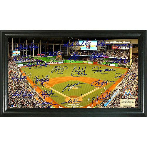 Miami Marlins 2012 Signature Field Photo by Highland Mint - MLB.com Shop