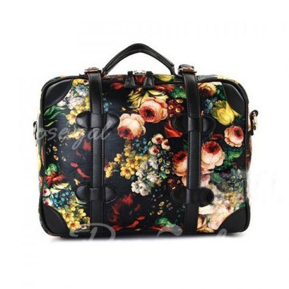 British Style Vintage Oil Printing and Floral Print Design Women's Shoulder BagBags | RoseGal.com