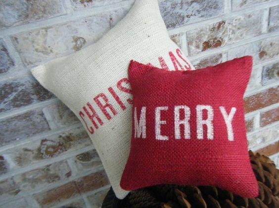 Christmas Series Merry Christmas Burlap by RamonaOwenDesigns, $28.00