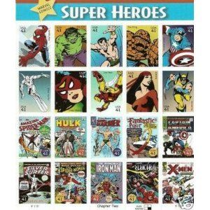 The Avengers - Marvel Comics Super Heroes Collectible Stamp Sheet