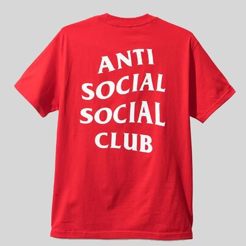 Anti Social Social Club Red White Logo Tee Anti Social Anti Social Social Club Social Club