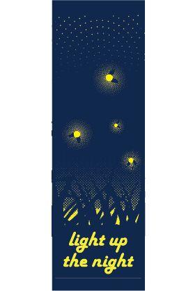 Fireflies - Stock banner 13109 Screen print outdoor fabric banners by Consort Display Group. #screenprint