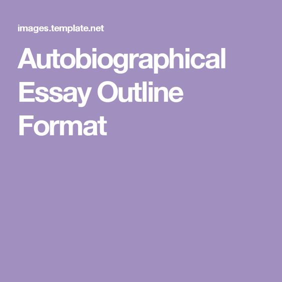Autobiographical research paper format