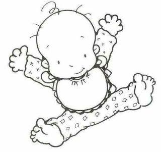 Mewarnai Gambar Bayi Merangkak Gambar Bayi Warna Bayi