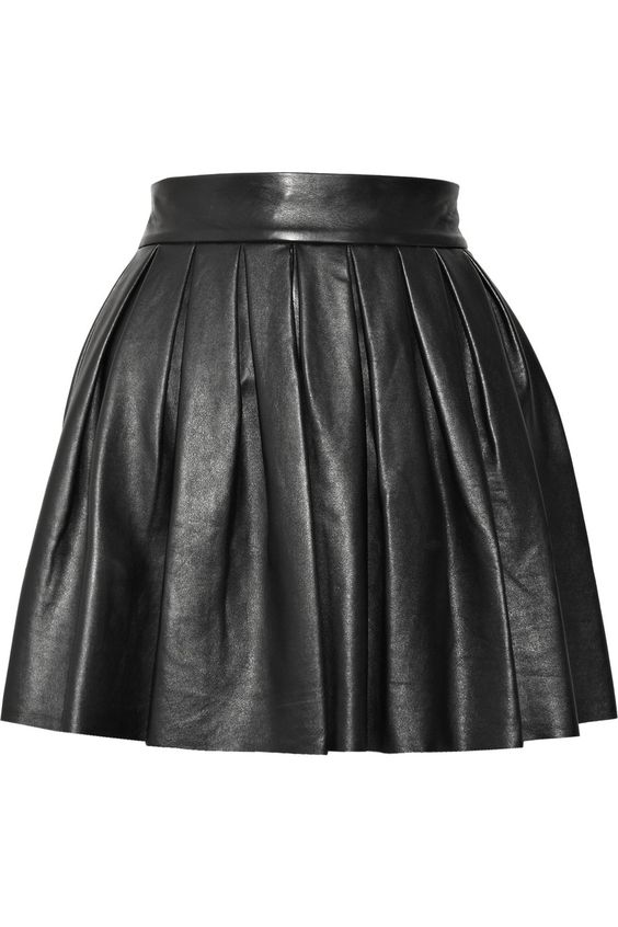 ALICE + OLIVIA Pleated leather skirt $276,50