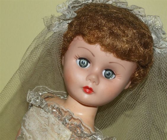 vintage bride doll.  I HAD ONE JUST LIKE HER~~~
