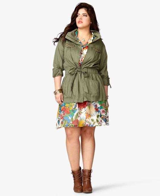 Bird & Floral Print Chiffon Dress | FOREVER21 PLUS - 2036043770