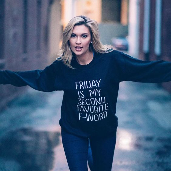 Friday Is My Second Favorite F Word Crew Neck Sweatshirt #Cool, #Funny, #Sweater