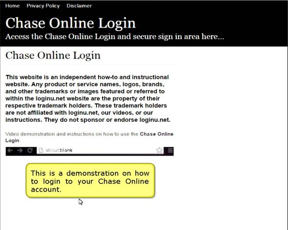 http://chaseonline.loginu.net/ | Chase Online Login - Secure Login | Chase Online Login. Sign in to obtain access to your Chase Online account.