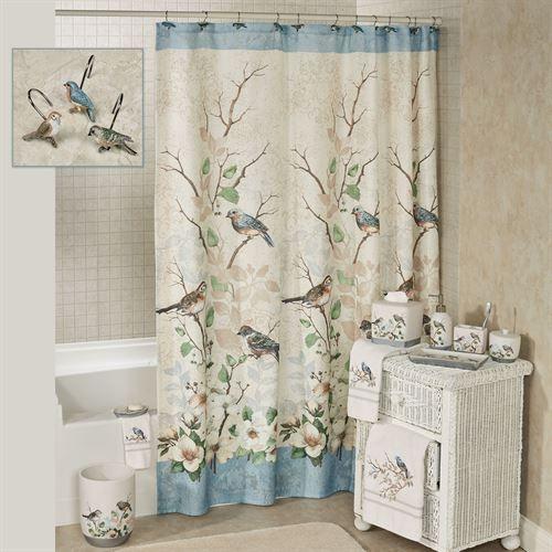 Love Nest Birds Shower Curtain Bird Shower Curtain Curtains