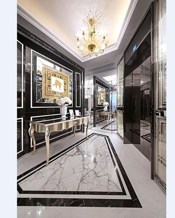 Modern Foyer Tile : Modern classic interior meet the of your dreams