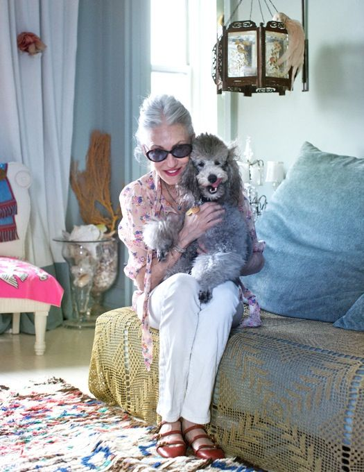 How I want to be when I'm older: Poodle People, Advanced Style, Chic Women, Editorial Style, Linda Rodin, Gray Poodle