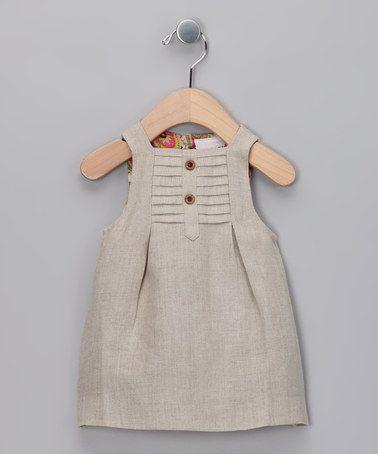Beige Swing Dress