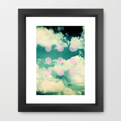 CLOUDS Framed Art Print by K IS FOR BLACK - $33.00