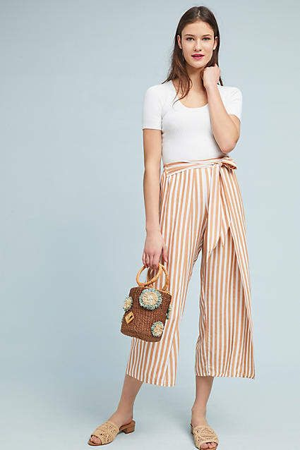 Faithfull Summer Striped Wide-Leg Pants