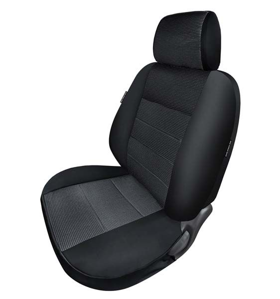 Neosupreme Solid Coverking Custom Fit Front 50//50 Bucket Seat Cover for Select Honda Element Models Black