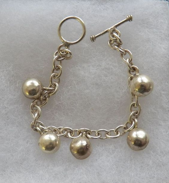 $20.00 Silver 5 Ball Bracelet (91215-1475MS) jewelry, fashion, collectibles #Unbranded #Fashion