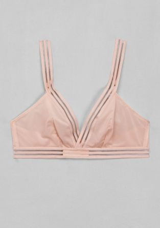 & OTHER STORIES A soft and delicate triangle bra finished with sporty striped trims.