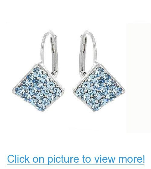 Perfect Gift - High Quality Elegant Rhombus Earrings with Blue Swarovski Element Crystals (2006) for Valentine day Birthday Wedding Gift Free Shipping #Perfect #Gift #High #Quality #Elegant #Rhombus #Earrings #Blue #Swarovski #Element #Crystals #Valentine #day #Birthday #Wedding #Free #Shipping