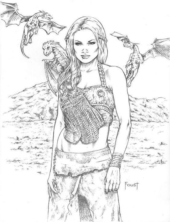 game of thrones coloring pages khaleesi - photo #19