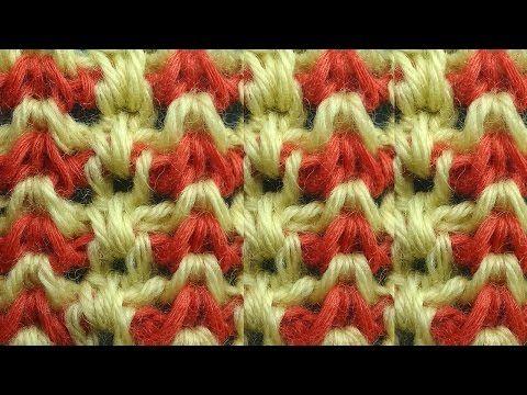 Красивый узор Тунисское вязание 44 Tunisian crochet tunisian - YouTube