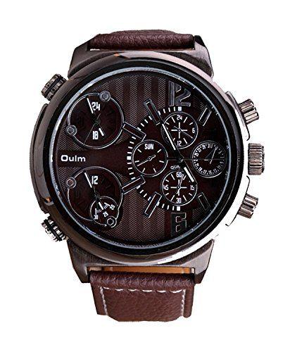 ufengke® elegantes dreifachwerk armband kalender kalender handgelenk armbanduhren für männer,braun - http://uhr.haus/ufengke-sports/ufengke-elegant-feines-dreifachbewegung-band-3