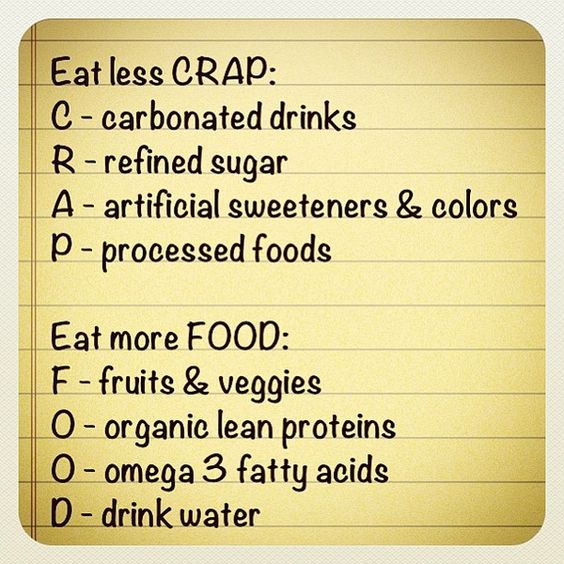 crap food meme | FOOD – fruits & vegetables, organic lean proteins (and probably ...