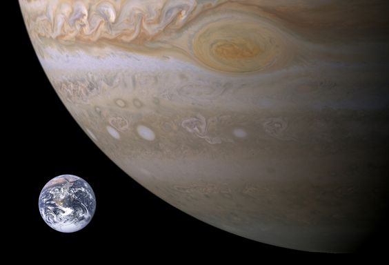 Jupiter Compared to Earth #space
