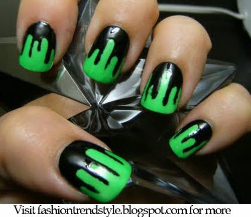 Halloween Easy Diy Nail Designs Tutorial 1 Pinned From Nailpixiie