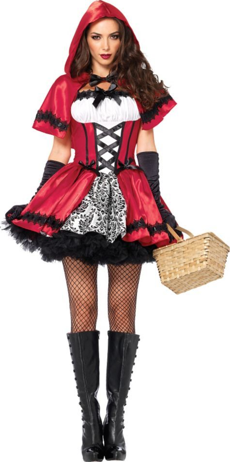 Adult Gothic Red Riding Hood Costume - Party City | costumes I ...