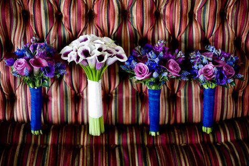 Wedding, Flowers, Pink, Blue, Purple, Monica z photography - Project Wedding
