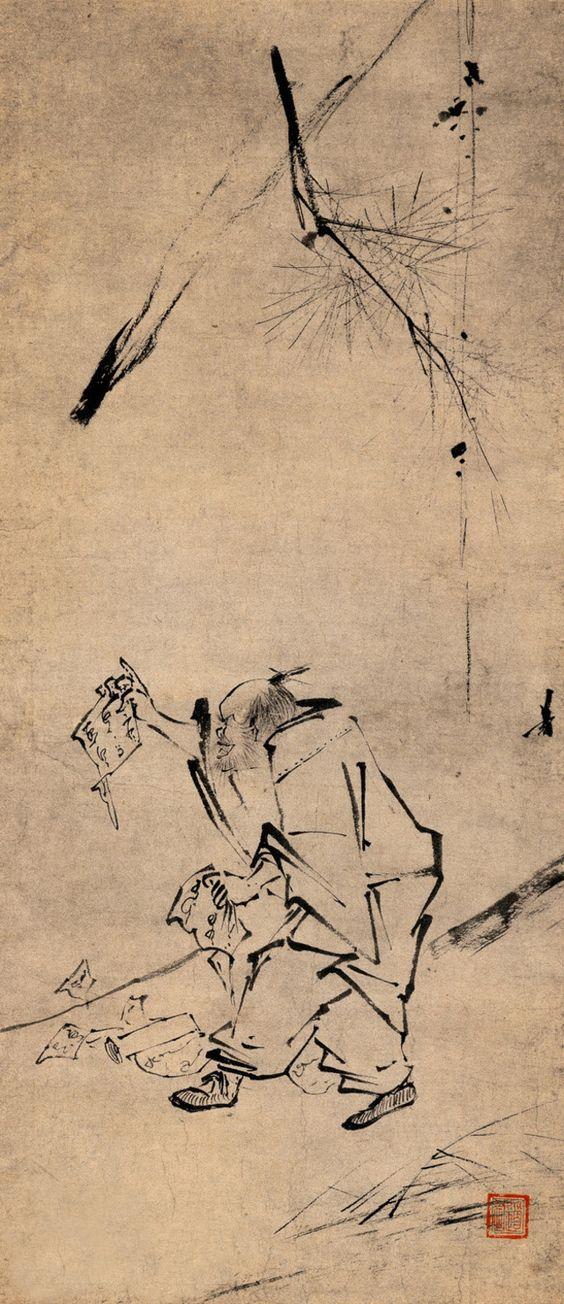 梁楷 Liang Kai (c. 1140 - c. 1210) - Liang-kaj csan festményei